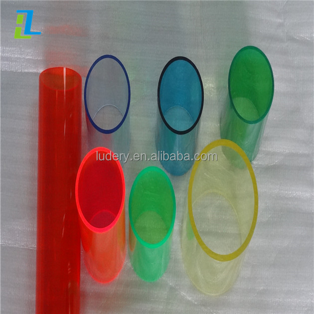 Clear colorful hard plastic acrylic <strong>tube</strong>/PMMA cylinder pipe