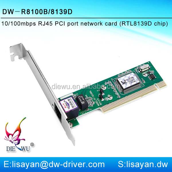 Smart ethernet 10/100mbps PCI lan network card adapter