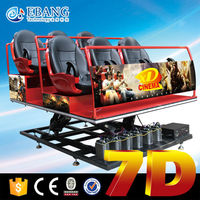 Flying chair 6 seats 7d cinema theater park rides wholesale amusement