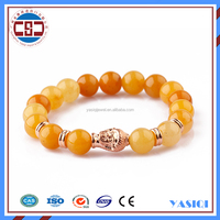 Fashion women fine jewelry rose gold buddha bracelet, jade jewellery