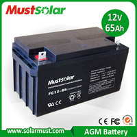 Sealed 12V 65AH Lead Acid Electric power tool Battery Made in China Manufacturer
