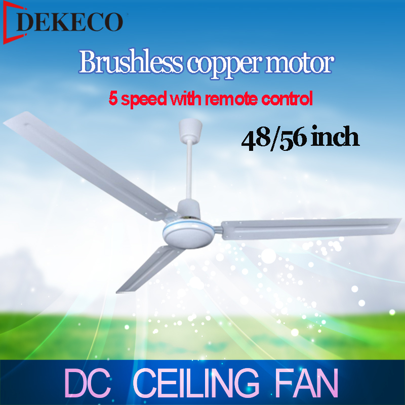 48/56 inch 12v dc ceiling fan rooftop fan with remote control