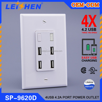 125V 3600mA 4-Port USB Home Wall Charger Adapter AC Rapid Socket for speed charge