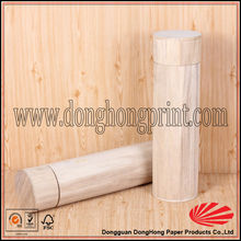 China cylindrical wine packaging round wood box
