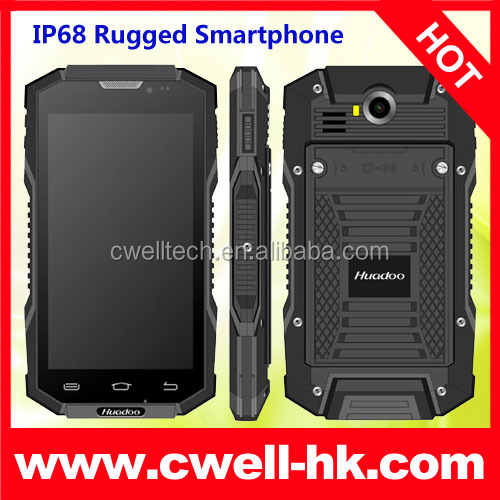 Huadoo V4 IP68 Rugged Smartphone Android 4.4 Quad Core 5.0 Inch IPS Screen Dual SIM Card 8.0MP Camera WIFI GPS E-Compass/Pressur