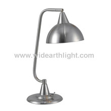 UL CUL Approved Brushed Nickel Hotel Metal Desk Lamp With Base Swith T80290
