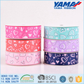 Multi pattern good abrasion resistance grosgrain for wedding invitation with ribbon and buckles