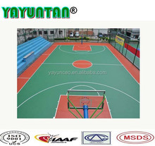 Synthetic PU /Rubber Basketball Courts Flooring Surface Outdoor