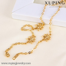 Attractive price new type 18k solid gold color necklace jewelry