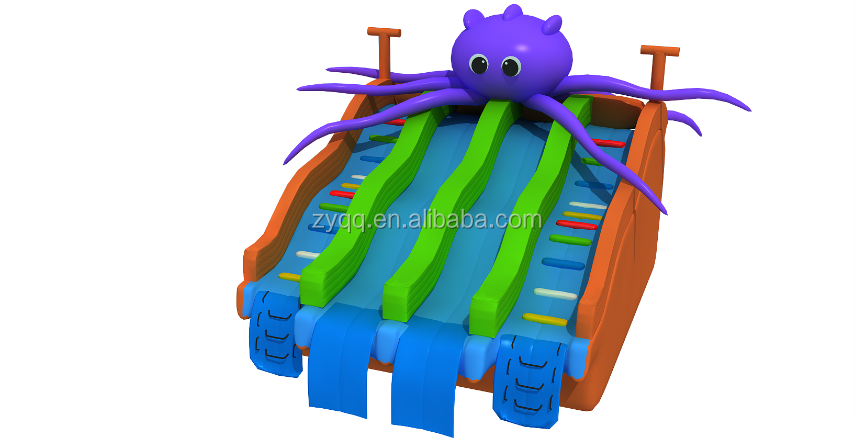 2017 Most Popular Big Inflatable Octopus Water Slides