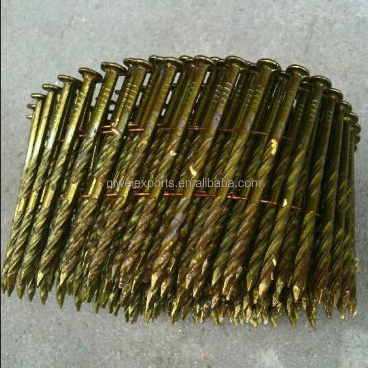 High Quality Flat Head Finishing Nails with Screw Shank