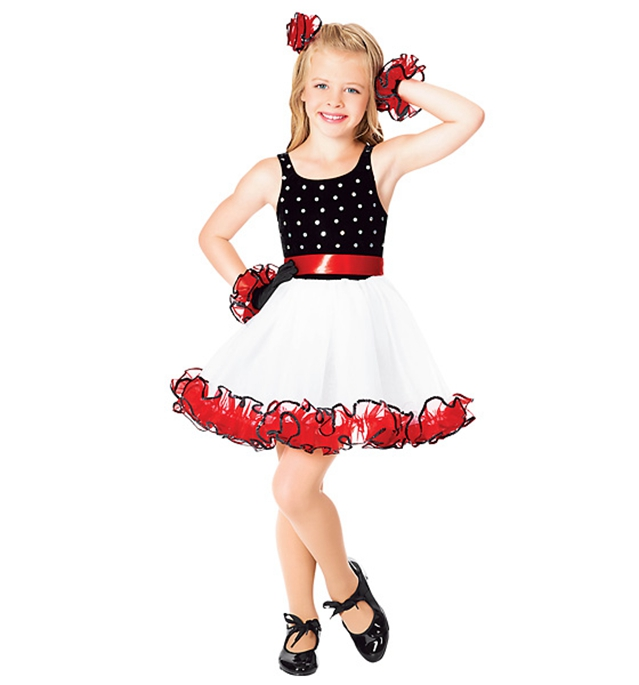 The new children dot skirt/girls dress/girl ballroom dress CBS-024