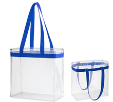 Clear Vinyl Handbag See-through Plastic Beach Bag Transparent Tote Bag