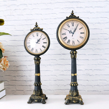 Antique European decoration resin floor standing clock for office or home