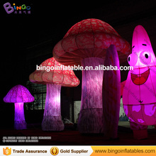 Lighting large inflatable mushroom for decorations/mushroom shaped balloons for advertising