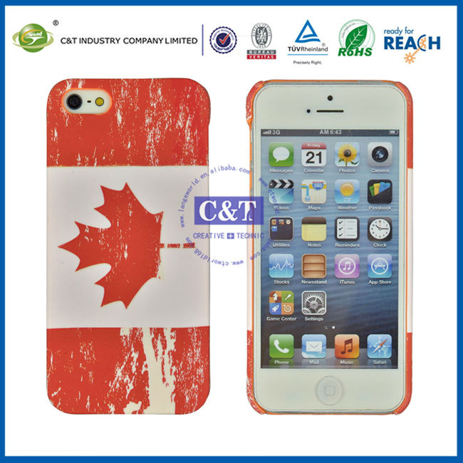 C&T Flag pattern plastic hard case cell phone covers for iphone 5s