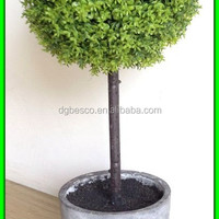 Artificial Single Grass Ball In Cement