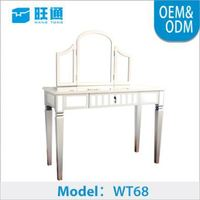 High quality New Design MOQ 200 pine wood bedroom dressing table