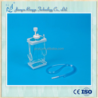 Disposable chest drainage bottle with one chamber