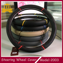 Best selling fiber leather car steering wheel cover
