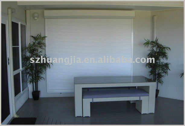 Motorized Roll up shutter garage door China manufacturer
