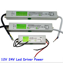 DC 12V 24V 30W Electronic IP67 Waterproof LED Driver Transformers Power Supply for Strip Light