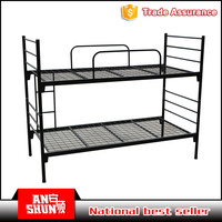 double decker metal detachable bunk beds for dormitory and military