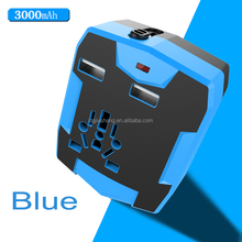 Dual Usb wholesale portable charger, international adapter,USB travel adapter power bank