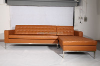 Latest new design replica designer furniture leather corner recliner sofa