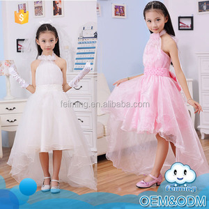 New little girl fashion kids party wear off shoulder hang designer latest elegant girls party dresses for wedding dress