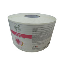 Hot Sale Self Adhesive Roll Waterproof Customize White BOPP Labels.