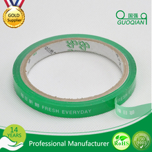 Green Protecting Food Grade Bopp Packing Tape with bar code/bopp tape for food