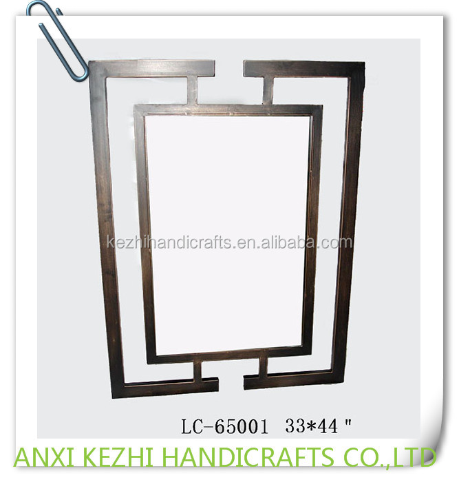 LC-65001 Rectangle Decorative Metal Frame Wall Mirror