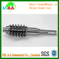 ISO certificated lathe turning stainless steel material used in worm shaft, elevating screw shaft