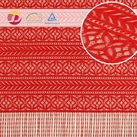 stock Lace Factory red eyelash bridal dresses guipure lace ,embroidery african Lace