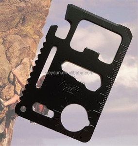 Mini 11 in 1 Stainless Steel Multi Pocket Credit Card Tool Portable Outdoor Survival Wallet Card Tools