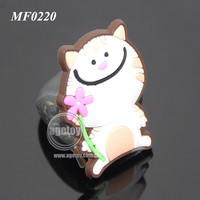 Cute Lovely Cat Shaped Promotional Soft Rubber Injection Molding Animation PVC Cartoon Fridge Magnet