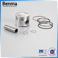 best selling streetbike GY6-50 piston with top quality, piston ring for motorcycle