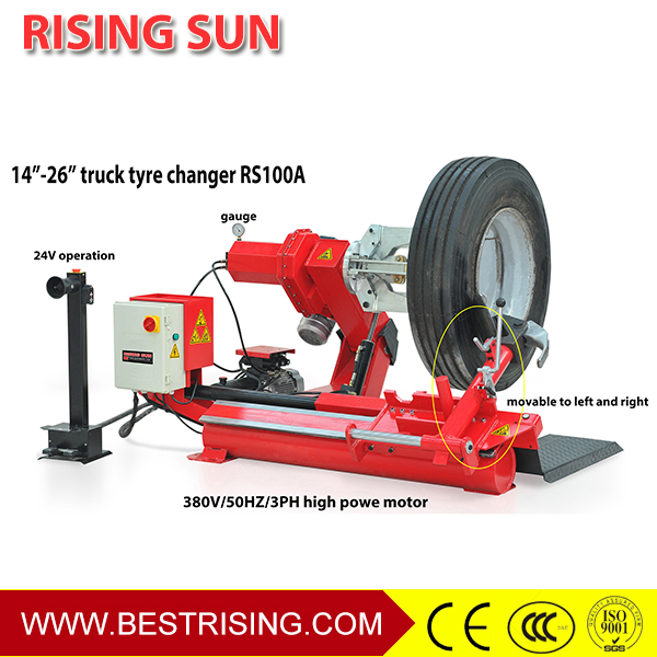 Truck wheel repair machine for change tires