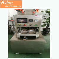 fast food MAP packing sealing machine/ food tray vacuum filling and sealing machine/ yogurt cup vacuum sealer