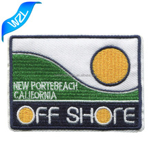 NO MOQ laser cut embroidery patches, Cheap embroideried badge iron on