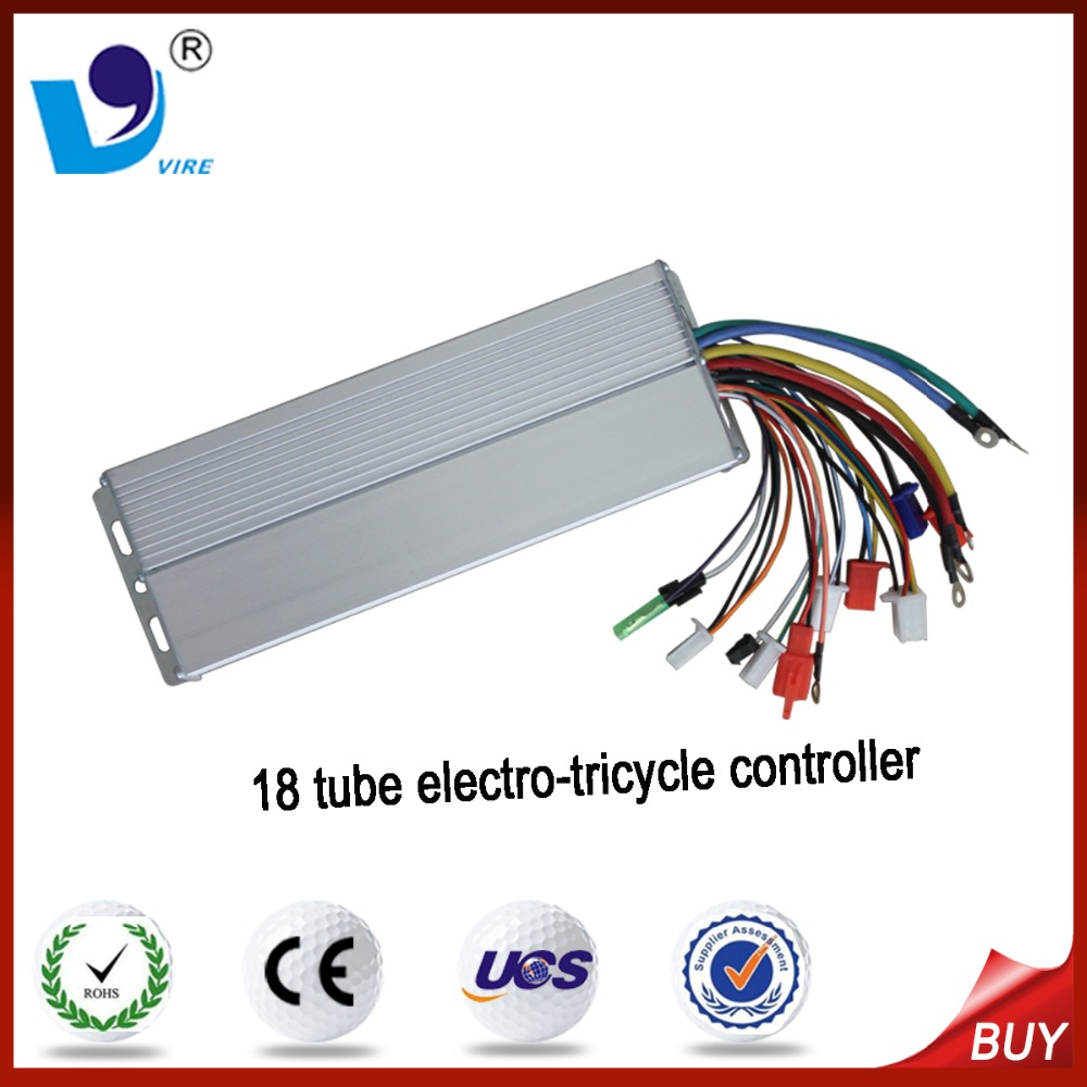 18 tube 60V 500W brushless motor controller for electrical vehicle