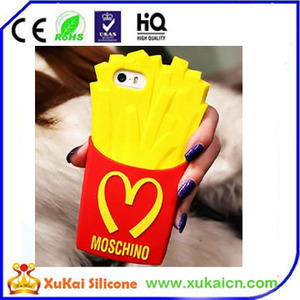 Hot selling character custom design 3d silicone mobile phone case