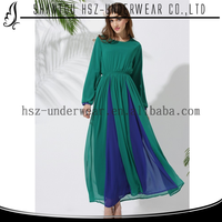 MD10014 New design dual color burka ladies dresses on sale long sleeves dresses modest malaysia dress muslim clothing women