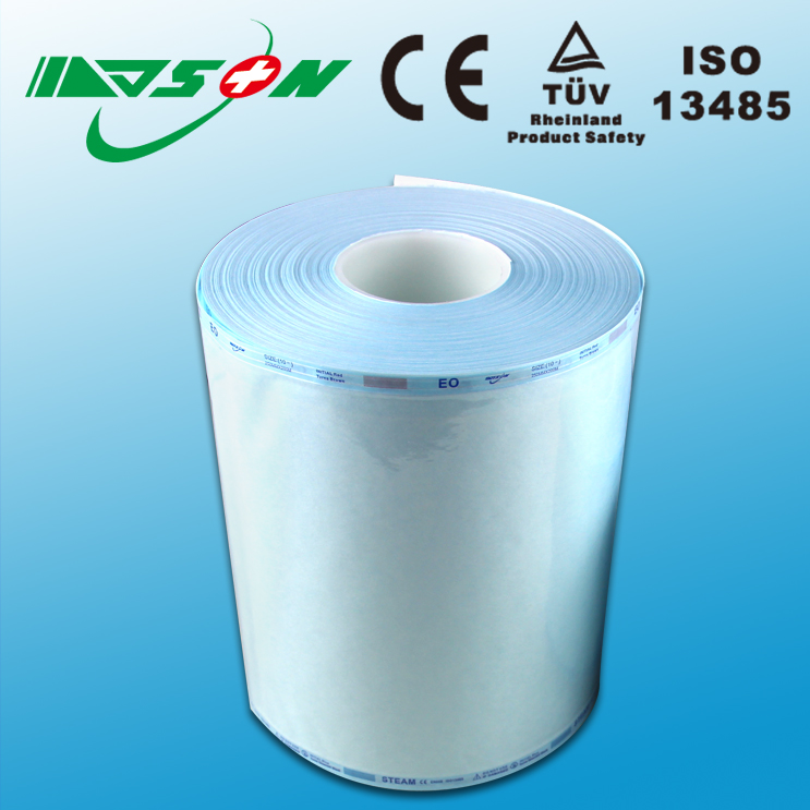 Medical device sterilization packaging tubing roll