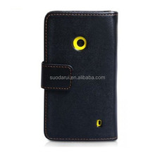 Hot sell Walle PU Leather Phone Case for Nokia Lumia 520 cover Mix color in stock