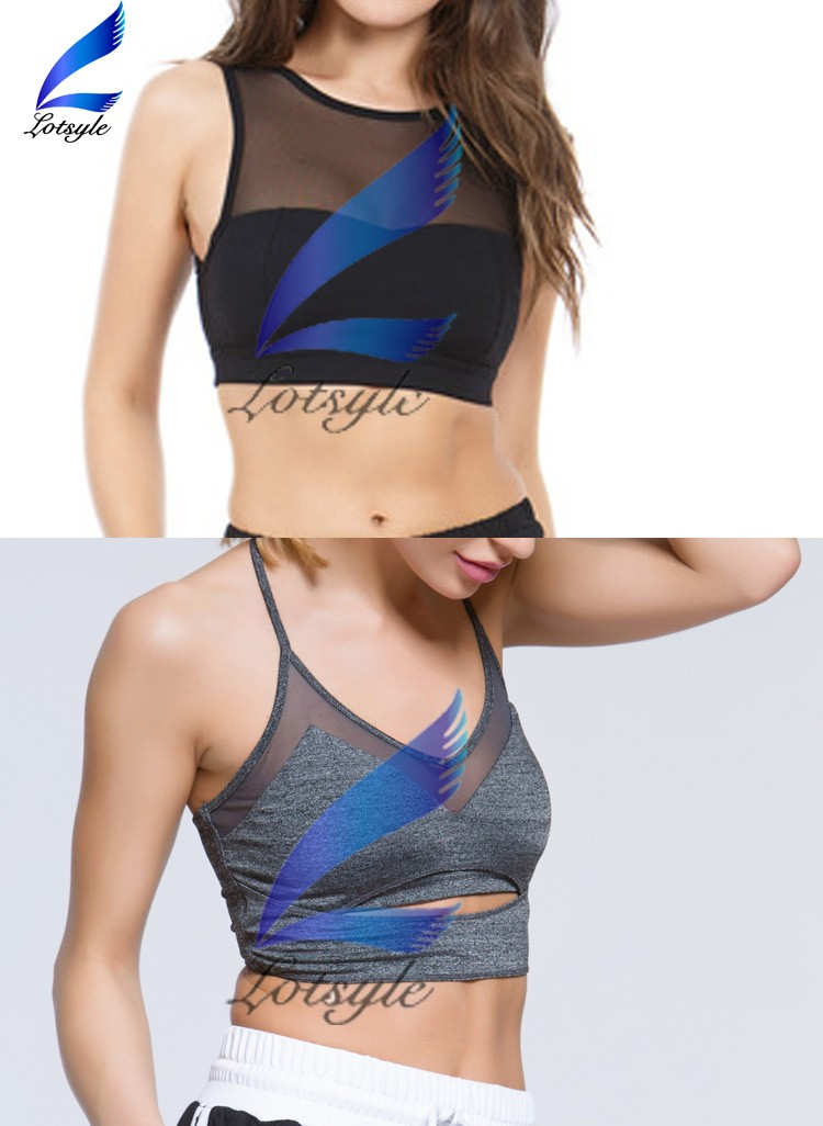 2016 Mesh Design Sexy Yoga Sport Bra Fitness Ladies Running Bra