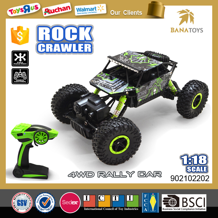 Newest toy remote control truck rc car 1:18 2.4G rc rock crawler for sale