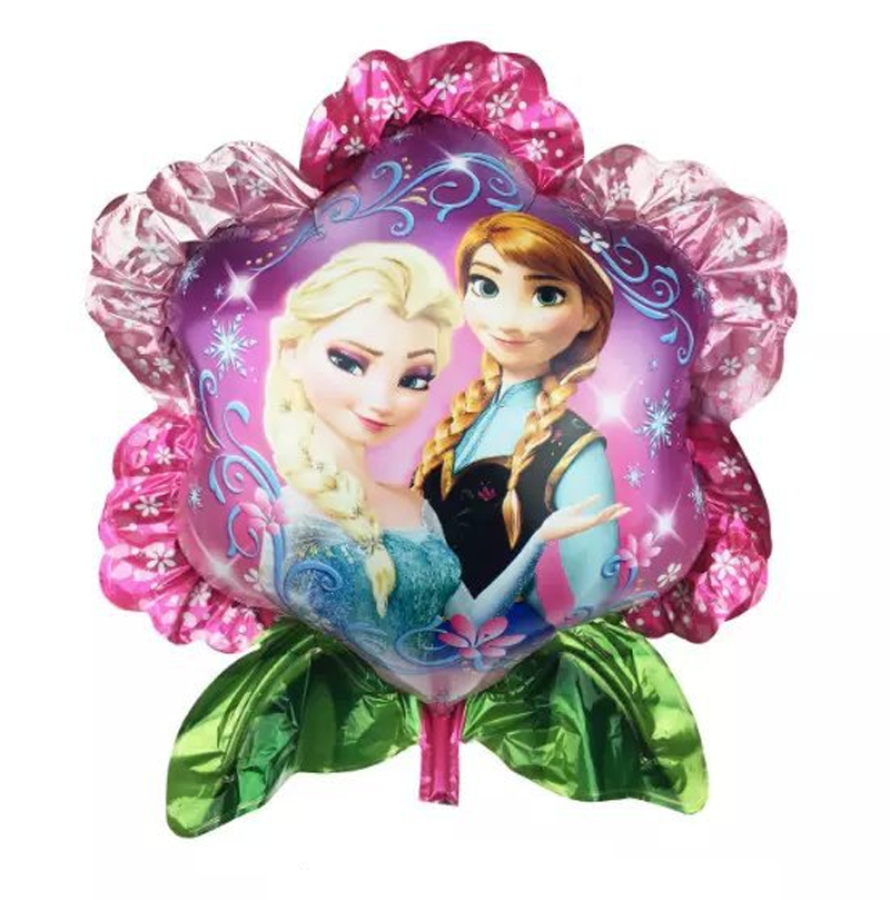 New Coming Elsa and Anna Princess Flower Shape Foil Balloon ;Funny Toys