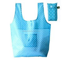 Personalized 190T Polyester Economy Tote Bags with Snap Pouch